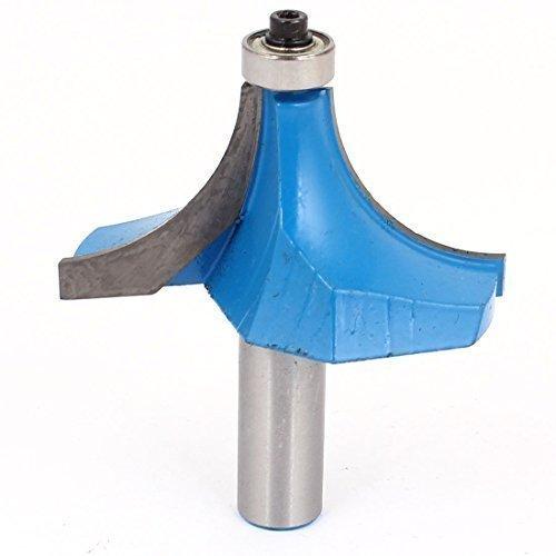 sourcingmap® Falegname 1.3cm x 5.1cm Angolo Rotondo Completamente Punta Instradatore Attrezzo Manuale