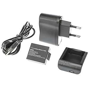 Ultrasport UmovE Power Kit - batterie, câble USB, station de charge, bloc d'alimentation pour caméra embarquée UmovE HD60