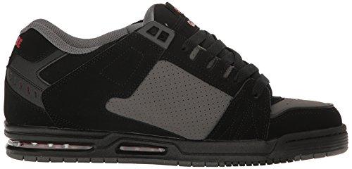 Globe Sabre, Chaussures de skate homme Black-Pewter-Red
