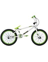 KS Cycling Uni Bmx Freestyle Twentyinch Weiß-Grün Fahrrad, Weiß/Grün, 20 Zoll