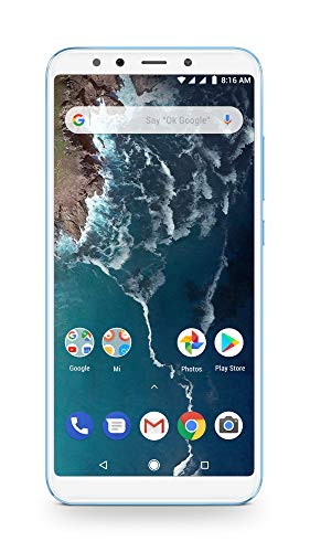 Xiaomi Mi A2 - 64GB 5.99-Inch Android 8.1 UK Version SIM-Free Smartphone - Blue (Official UK Launch)