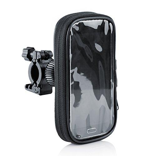Arendo-Support-pour-vlo-pour-smartphones-jusqu-max-5-pouces-127-cm-max-7x-14-cm-botier-pour-vlo-tui-pour-guidon-impermable-fixation-sre-pour-navigation-pour-vlos-GPS-tte-sphrique-rotative--360-compati