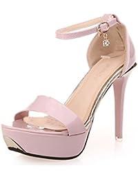 Zapatos de tacón, Culater Sandalias de pulsera al tobillo Tacón de aguja Open Toe