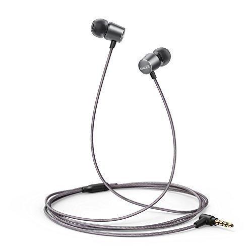 Kopfhörer Anker SoundBuds Verve in-Ear Kopfhörer Kabelgebunden mit stark Bass/ physikalischer Geräuschreduzierung/ 3,5mm Klinkenbuchse für iPhone/ iPad/ Sumsung Smartphones, Tablets, PC und weitere (Grau)