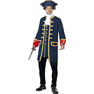 Mens Lord Admiral Nelson Royal Navy Historical Fancy Dress Costume Outfit M-L (Large)