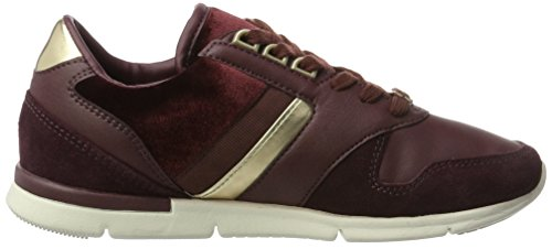 Tommy Hilfiger S1285kye 1c3, Sneakers Basses Femme Rouge (Decadent Chocolate)