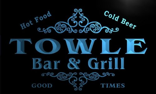 Towle Bar (u45413-b TOWLE Family Name Bar & Grill Home Decor Neon Light Sign Barlicht Neonlicht Lichtwerbung)