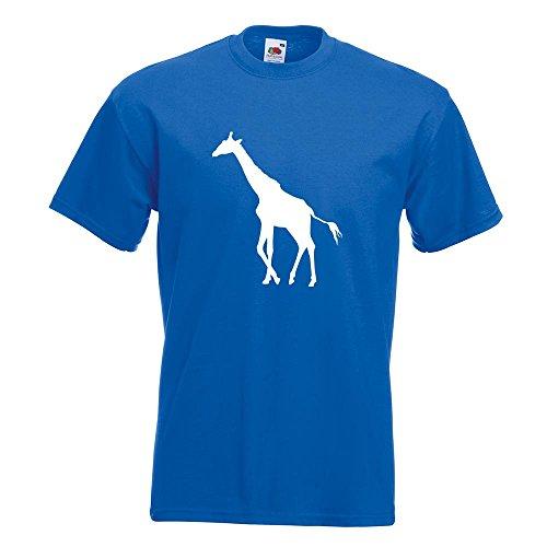 KIWISTAR - Giraffe Silhouette T-Shirt in 15 verschiedenen Farben - Herren Funshirt bedruckt Design Sprüche Spruch Motive Oberteil Baumwolle Print Größe S M L XL XXL Royal