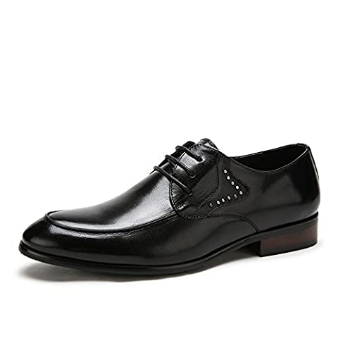 Camel Men's Leather Business Derby Oxford Shoes Color Black Size