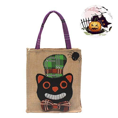 (Griff Tasche, Halloween tragbar Candy Staubbeutel Vlies Kürbis Muster Tasche, S Ghost Festival Kinder Geschenk Candy Tasche Party Supplies Zubehör, C)