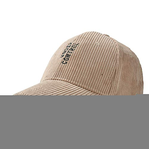 QWER Baseballmütze Fashion Solid Cord Baseball Caps Für Männer Frauen Hip Hop Hüte Kappe Herbst Winter Buchstaben Bestickt Warme Papa Hut Cord-vintage Cap