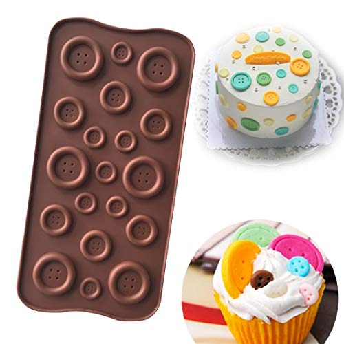 Cake Mold - Fondant Molds 1pc Silicone Cake Mold Button Shape Chocolate Soap Moulds Stencils Candy Jelly Diy - Stencil Flowers Spatula Ages Russian Kitchen Beginners Caddy Gadgets Pink Silicone S -