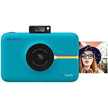 Polaroid SNAP Touch - Cámara digital con impresión instantánea y pantalla LCD (azul) con tecnología Zero Zink