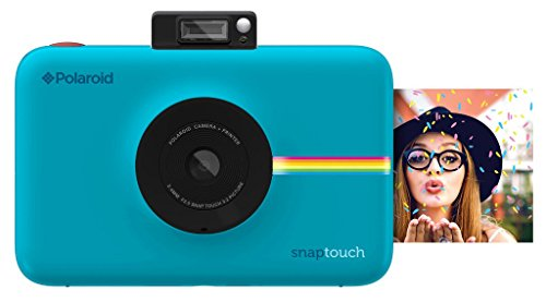 Polaroid Digitale Instant Snap Touch Kamera mit ZINK Zero Ink Technologie Blau (Polaroid Touch)