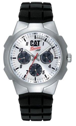 Caterpillar RACING CA0893 - Reloj analógico de caballero de cuarzo con correa de goma negra