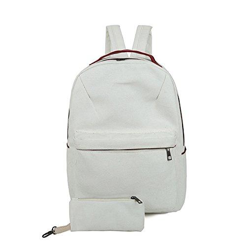 24bf7a4f912c2 X L Einfache Leinwand Umhängetasche Handtasche Mode Student Kind Freizeit  bulk Taschen White