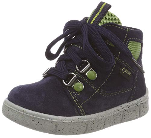 Superfit Baby Jungen Ulli Sneaker, Blau (Blau/Grün 80), 25 EU