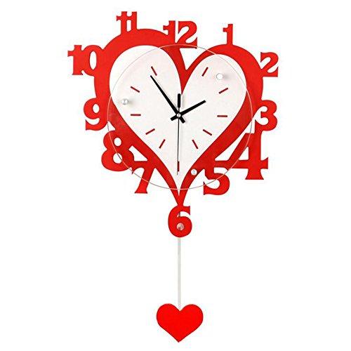 Balançoire en bois horloge murale salon chambre muet horloge électronique quartz horloge