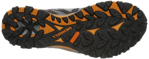 Merrell GRASSBOW SPORT GTX Herren Trekking- & Wanderhalbschuhe Grau (Dark Grey/Orange)