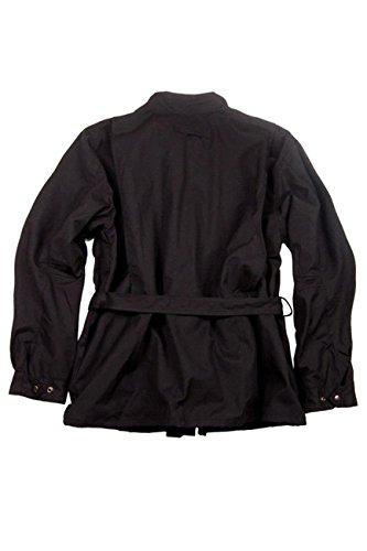 Herren Outdoor Biker Jacke aus gewachster Baumwolle, wasserabweisend und atmungsaktiv von Kakadu Australia Schwarz