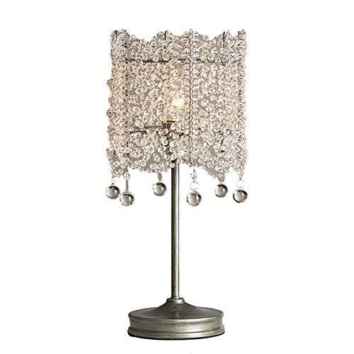 BDYJY * Französisch Mini Vintage K9 Kristall Tischlampe Europäische Mode Einfache Alte Anhänger Glas Nachtlicht Prinzessin Zimmer Schlafzimmer Wohnzimmer Studie Restaurant Bar Club Bekleidungsgeschäft