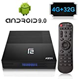 A95X Android 9.0 TV Box 4GB+32GB Amlogic S905X2 Quad Core Procesador con Dual-WiFi 2.4GHz/5.8GHz,...