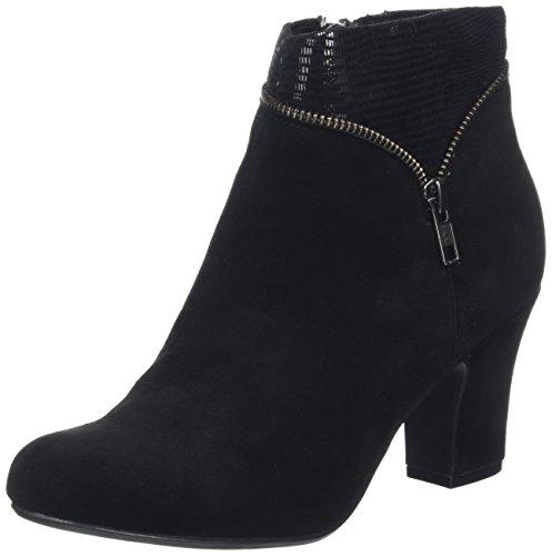 Hotter Women Vanity Ankle Boots, Black (Black-Black Snake), 6 UK 39 EU