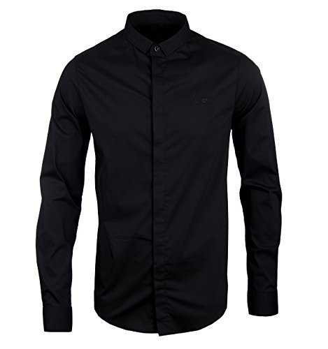 Armani 7125U camicia uomo JEANS dark blue long sleeve shirt men Blu scuro