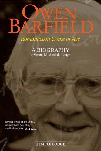 Owen Barfield: Romanticism Come of Age (2006-09-01)