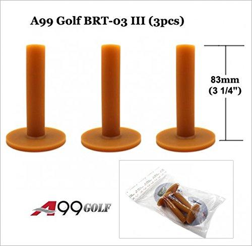 3pcs brt-03iii marrone gomma Hitting Practice Golf driving Mat Range tee Holder 31/4