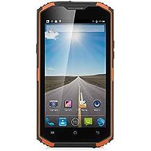 NO.1 X3 - 4G LTE Smartphone Libre Android 5.1 (Pantalla HD 5.5'', MTK6735 Quad Core, 2GB RAM 16GB ROM, 13MP + 5MP Cámara, IP68 Impermeable, Prueba de Polvo Choques, Dual SIM) (Amarillo)