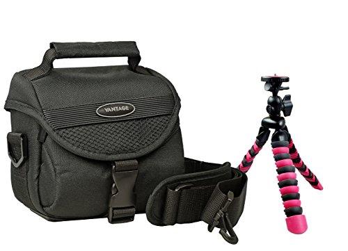 Kamera Foto Tasche VANTAGE TY4 Set mit Reise Stativ Rollei 100 für Sony HX400 H400 RX10 Canon SX540 SX530 SX420 SX410 Nikon B500 B700 L840 L340 P900 P610
