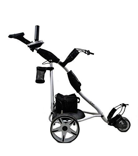 Airel Carrito de Golf Eléctrico Plegable |Carro Golf 3 Ruedas|Golf Trolley-Blanco