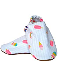 SKIPS Comfortable Baby Booties Shoes for Baby Girl & Boy - Ice Cream Print