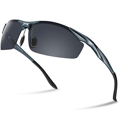 Paerde uomo occhiali da sole polarizzati per guidare gli uomini super light al-mg metal frame 2206,grigio