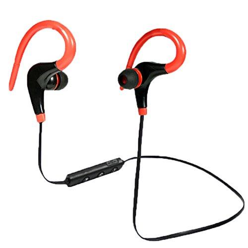 LEEBA - Auriculares inalámbricos con Bluetooth, con micrófono y botón de Control para Correr, Ciclismo, Gimnasio, Viajes y más
