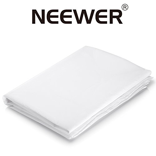 Neewer 20x 5Fuß/6x 1,5Meter Nylon Seide Weiß Nahtloser Diffusion Stoff für die Fotografie Softbox, Licht Zelt und DIY Beleuchtung Lichtformer