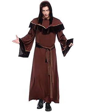 Friar Mittelalterliche Kapuze Mönch Renaissance Priester Robe Kostüm Cosplay