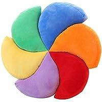 NACHEN Regalo Creativo de la Almohadilla del Arco Iris del Amortiguador de Viento del Molino para los Amigos, Colorful, 40 * 40cm