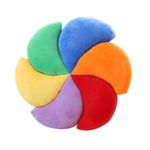 NACHEN Kreatives Kissen Windmühlen Regenbogen Kissen Geschenk für Freunde, Colorful, 40 * 40cm