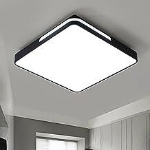 Salón moderno y sencillo de luces de 24W Lámpara de techo LED hogar rectangular dormitorio luz cálida y romántica luz creativa 420 * 420 mm