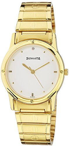 Sonata Analog White Dial Men's Watch -NK7023YM01