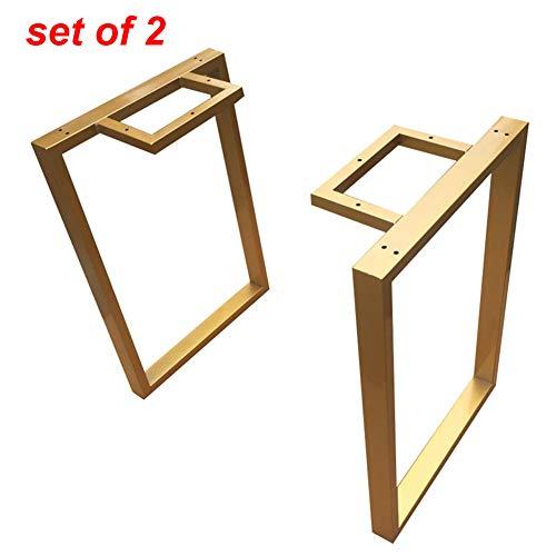 Furniture legs Tischkufen Metall,2er-Set,Tischbeine für bartisch esstisch Bank, moderner Industriedesign Tischgestell Kufengestell,Höhe 70 cm, Breite 40-70 cm, Gold