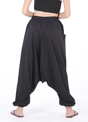 CandyHusky'coton pour femme s aladinhose pluderhose pantalon pantalon pour homme - Noir