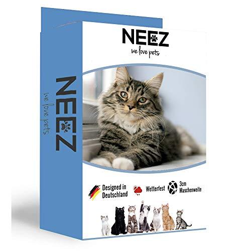 NEEZ Transparent Katzennetz 3x8 Meter aus extra strapazierfähigem Material für deinen Balkon I Außennetz auch als Taubennetz