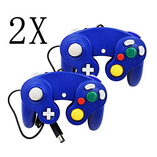 YUNGUI Classic NGC Gamecube Controller - 2er-Pack Wired Controller Joypad Joystick Gamepads für Wii Game Cube Gamecube Konsole (blau)