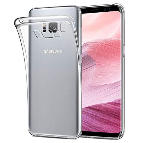 NEW'C Coque pour Samsung Galaxy S8, [ Ultra Transparente Silicone en Gel TPU Souple ] Coque de Protection avec Absorption de Choc et Anti-Scratch