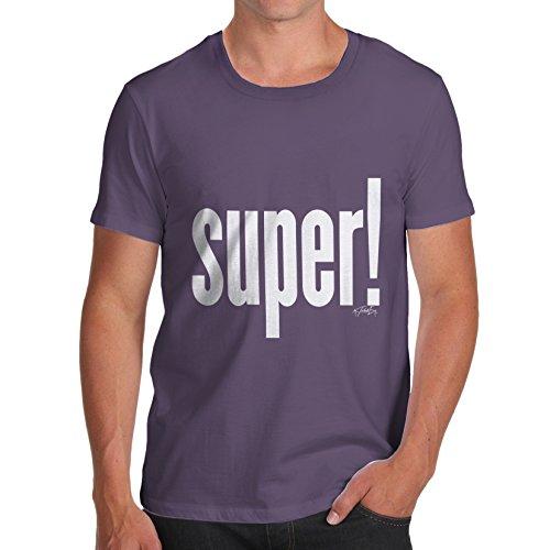 TWISTED ENVY Herren T-Shirt Super! Print Pflaume