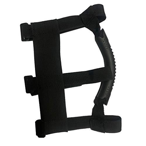 Hand Tragegriff Haken Rückengurt elektrisches Skateboard Werkzeuge Für Xiaomi Mijia M365 Roller Skateboard Schultergurte Gürtel Gurtband,Tragbarer Tragegriffriemen Haken Klettverschlüsse (Black)