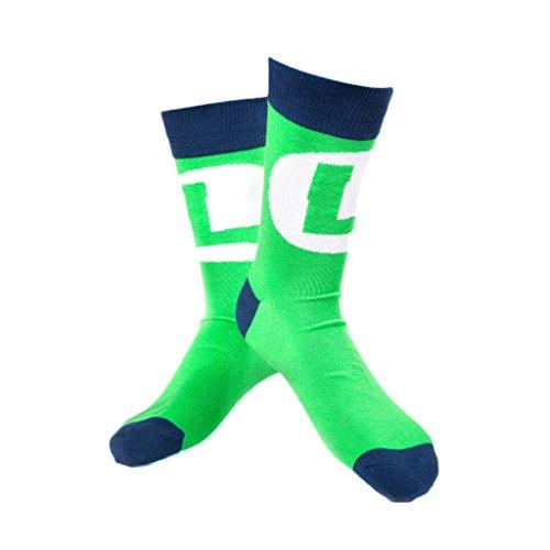 Super Mario CR021004NTN, 39/42 Nintendo-Peluche, Luigi, taglia 6-8 marchio di calze, taglia: M